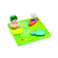 Djeco - Puzzle relief 1,2,3 froggy