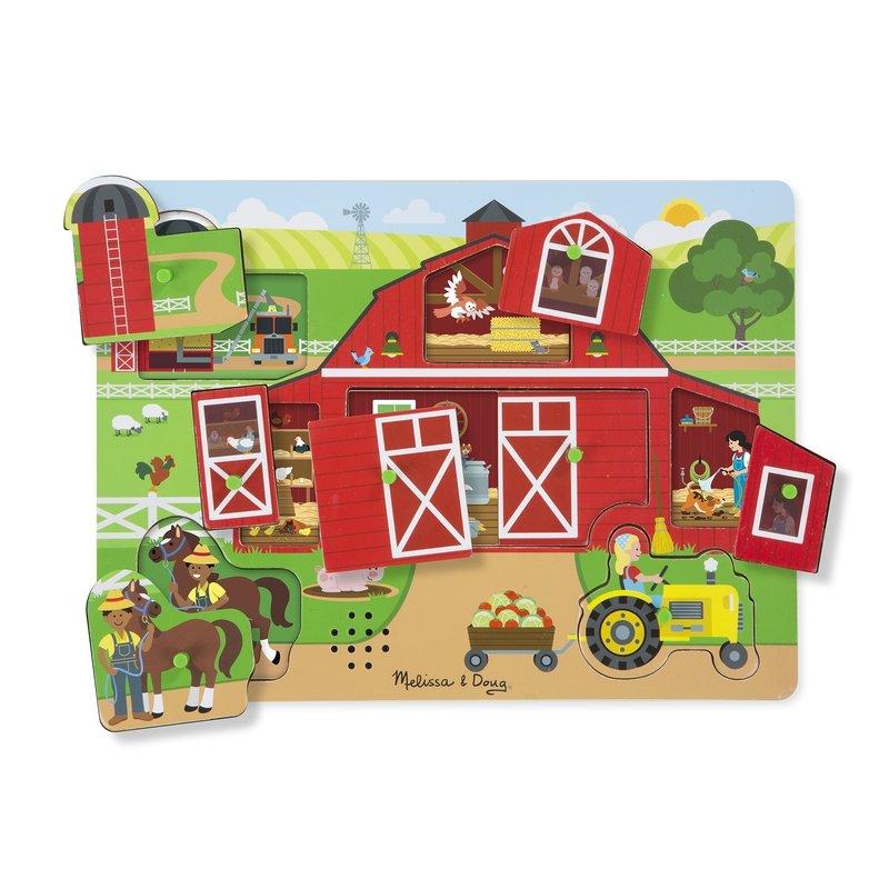 Puzzle sonor Ferma – Melissa and Doug din categoria Puzzle copii de la Melissa & Doug
