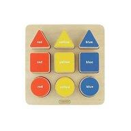 Masterkidz - Puzzle sortator de forme geometrice si culori, din lemn, +2 ani,