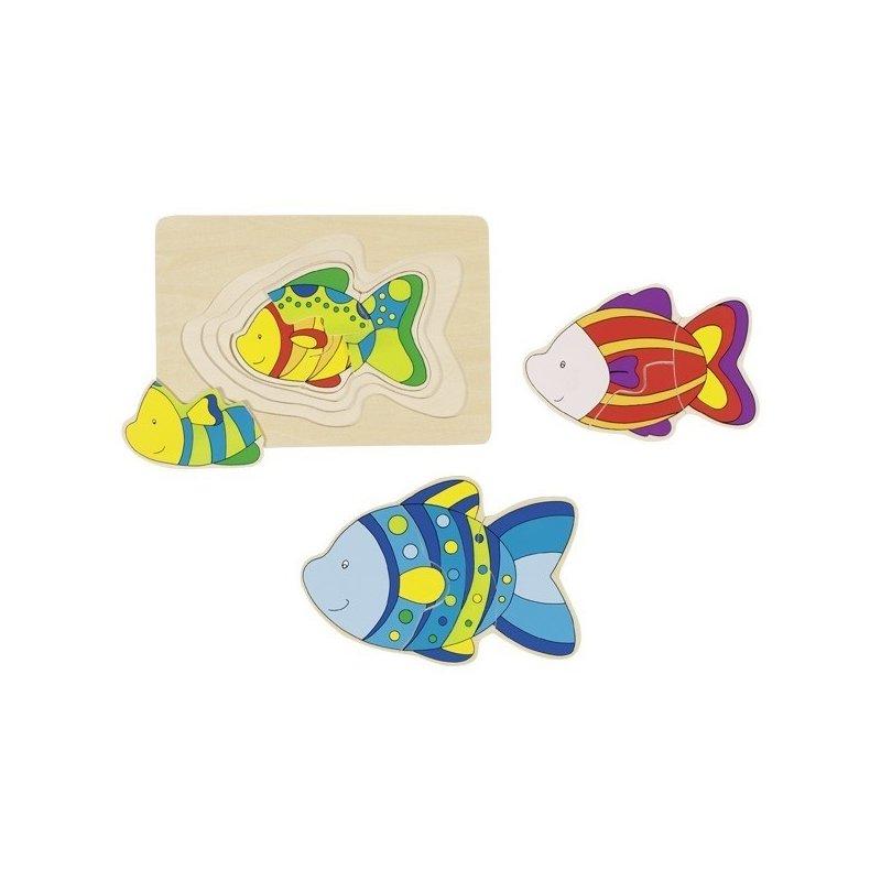 Goki Puzzle stratificat Pestisori colorati din categoria Puzzle copii de la Goki