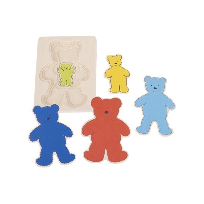 Goki Puzzle stratificat Ursuleti colorati din categoria Puzzle copii de la Goki