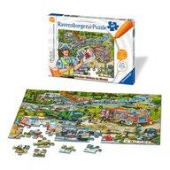 Ravensburger - Puzzle vehicule Strada in constructie Tiptoi Puzzle Copii, piese 100