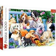 Trefl - Puzzle animale Caini in gradina Puzzle Adulti, pcs  1000, Multicolor