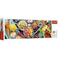 Trefl - Puzzle gastronomie Panorama O incantare dulce Puzzle Adulti, pcs  1000, Multicolor