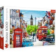 Trefl - Puzzle peisaje Strada in Londra Puzzle Adulti, pcs  1000, Multicolor