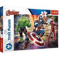 Trefl - Puzzle personaje Eroi Avengers Maxi Puzzle Copii, pcs  24, Multicolor