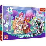 Trefl - Puzzle personaje Familia Enchantimals Maxi Puzzle Copii, pcs  24, Multicolor