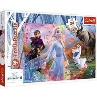 Trefl - Puzzle personaje Frozen 2 O zi plina de aventuri Maxi Puzzle Copii, pcs  24, Multicolor