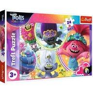 Trefl - Puzzle personaje Lumea muzicala a trolilor Maxi Puzzle Copii, pcs  24, Multicolor