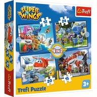 Trefl - Puzzle personaje O echipa extraordinara  4 in 1 Puzzle Copii, pcs  71, Multicolor