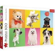 Trefl - Puzzle animale Catelusi Puzzle Copii, pcs  500, Multicolor