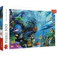 Trefl - Puzzle peisaje Comoara din adancuri Puzzle Copii, pcs  500, Multicolor