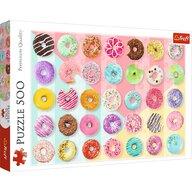 Trefl - Puzzle gastronomie O colectie de gogosi Puzzle Copii, pcs  500, Multicolor