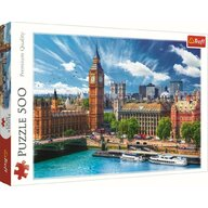 Trefl - Puzzle peisaje O zi cu soare la Londra Puzzle Copii, pcs  500, Multicolor