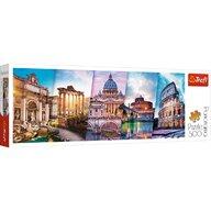 Trefl - Puzzle peisaje Panorama Calatorind in Italia Puzzle Copii, pcs  500, Multicolor