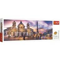 Trefl - Puzzle peisaje Panorama Piata Navona din Roma Puzzle Copii, pcs  500, Multicolor