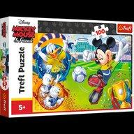 Trefl - Puzzle personaje Disney Mickey Mouse - Mickey pe terenul de sport Puzzle Copii, piese 100