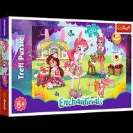 Trefl - Puzzle personaje Enchantimals - Bree Danessa si Felicy in gradina Puzzle Copii, piese 160