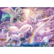 Ravensburger - Puzzle personaje Unicorni Puzzle Copii, piese 100