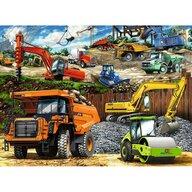 Ravensburger - Puzzle vehicule De constructii Puzzle Copii, piese 100