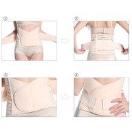 Qmini - Centura abdominala postnatala dublu reglabila, Beige