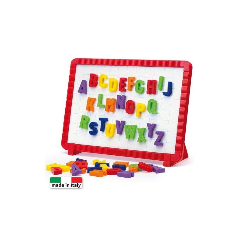 Quercetti Tableta magnetica cu 48 litere mari din categoria Jucarii educative de la Quercetti