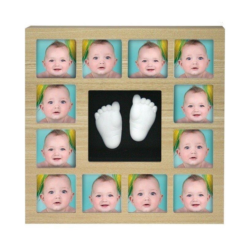 Rama foto cu mulaj 3D 'My First 12 Months Wall of Fame' Kidzzcast Natur