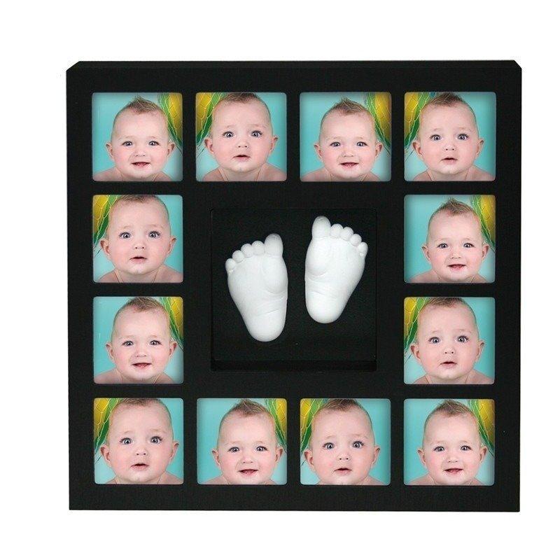 Rama foto cu mulaj 3D 'My First 12 Months Wall of Fame' Kidzzcast Negru
