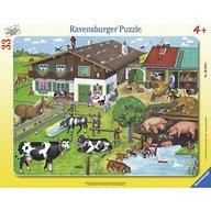 Ravensburger - Puzzle Familii de animale, 33 piese