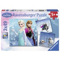 Ravensburger - Puzzle Frozen, 3x49 piese