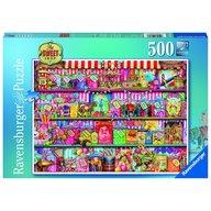 Ravensburger - Puzzle Magazinul de dulciuri, 500 piese