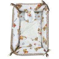 Deseda - Reductor Bebe Bed Nest cu paturica si pernuta antiplagiocefalie  Ursuleti la ski pe crem