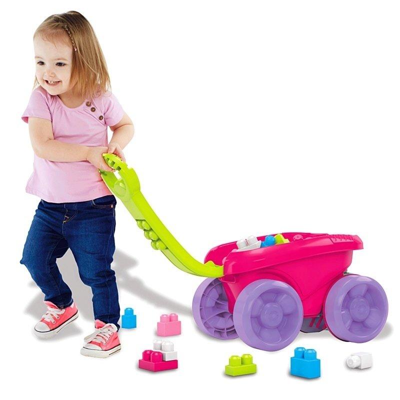 Remorca care aduna piesele Mega Bloks – pentru fetite din categoria Seturi constructii si cuburi de la Fisher-Price