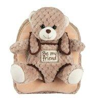Rucsac copii Milly Bear Plus soft, Cu ursulet detasabil