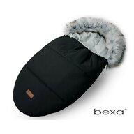 Bexa - Sac termic de iarna Pentru carucior , Cu blanita si interior fleece, Negru