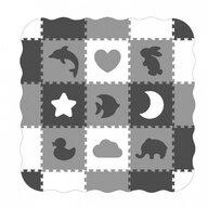 Ecotoys - Covoras puzzle Cu pereti, 25 elemente, 122x122 cm, Gri