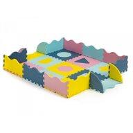 Ecotoys - Covoras puzzle Cu pereti, 25 elemente, 122x122 cm, Multicolor
