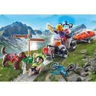 Playmobil - Set de constructie Salvator montan cu atv , Rescue action