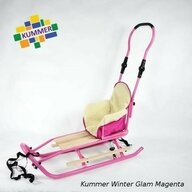 Kummer - Sanie  Winter Glam cu blanita Roz