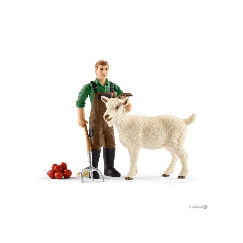 Schleich Set Figurine Fermier Cu Capra din categoria Figurine copii de la Schleich