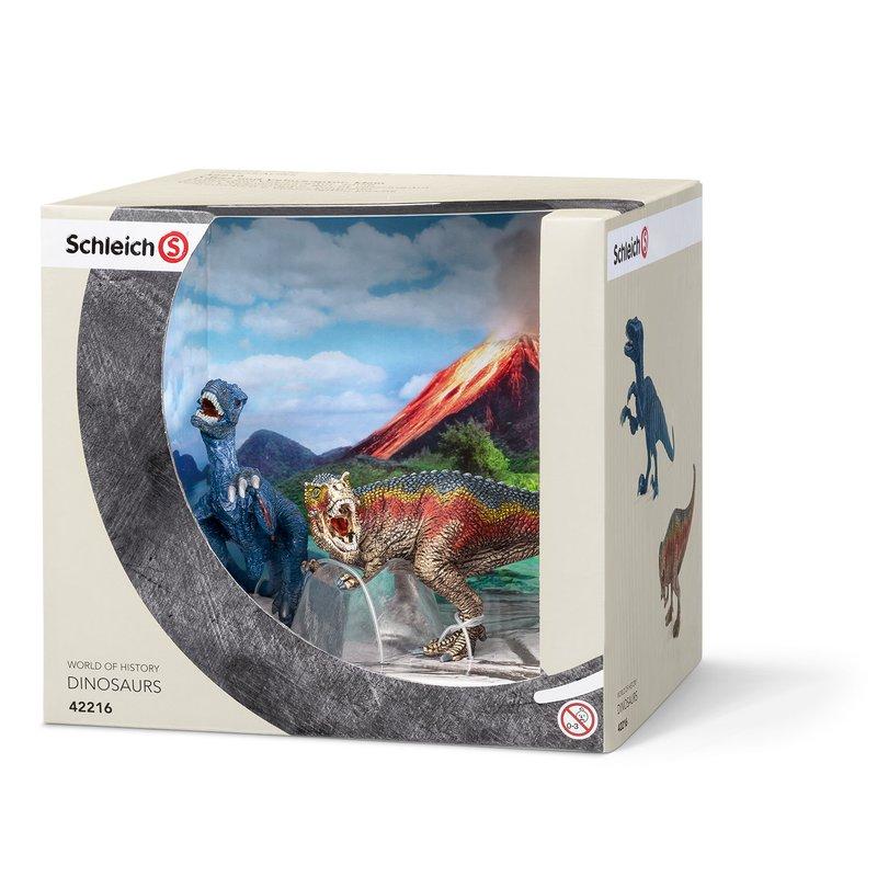 Schleich Set Figurine T-Rex Si Velociraptor Mic din categoria Figurine copii de la Schleich