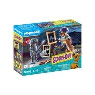 Playmobil - Set de constructie Aventuri cu cavalerul negru , Scooby Doo