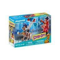 Playmobil - Set de constructie Aventuri cu fantoma clovn , Scooby Doo