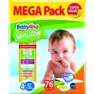 Babylino - Scutece Sensitive Megapack, Maxi N4+, 76 buc