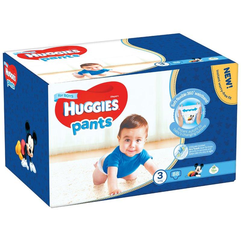 Scutece-chilotel Huggies Box Pants (nr 3) Boy 88 buc 6-11 kg