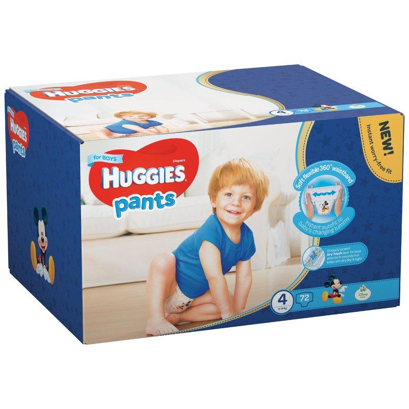 Scutece-chilotel Huggies Box Pants (nr 4) Boy 72 buc 9-14 kg din categoria Scutece bebelusi de la Huggies