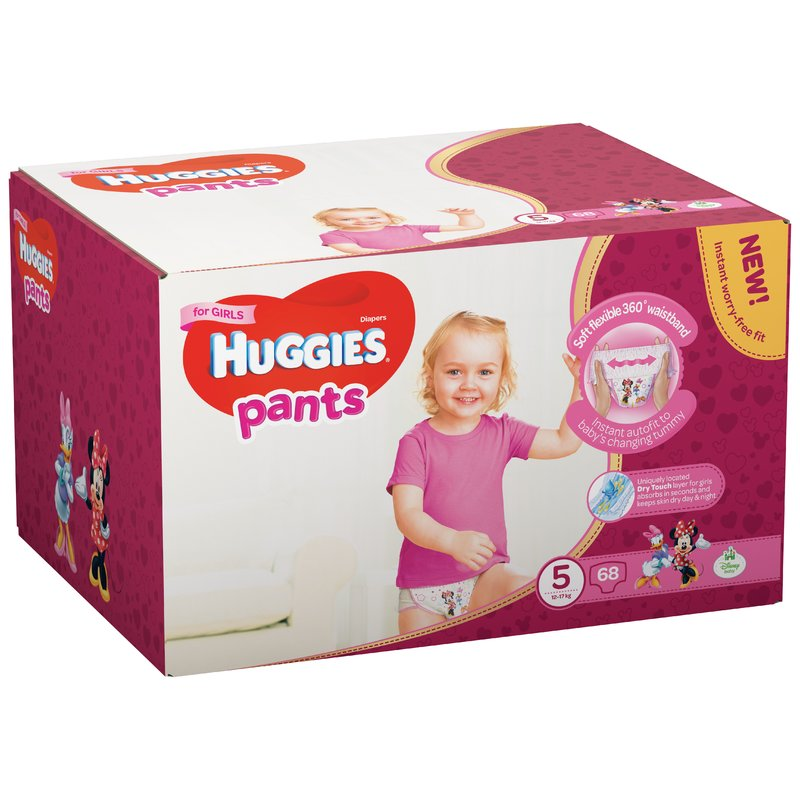 Scutece-chilotel Huggies Box Pants (nr 5) Girl 68 buc 12-17 kg