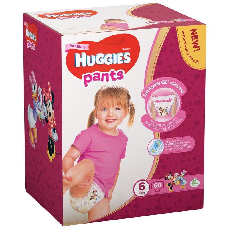 Scutece-chilotel Huggies Box Pants (nr 6) Girl 60 buc 15-25 kg