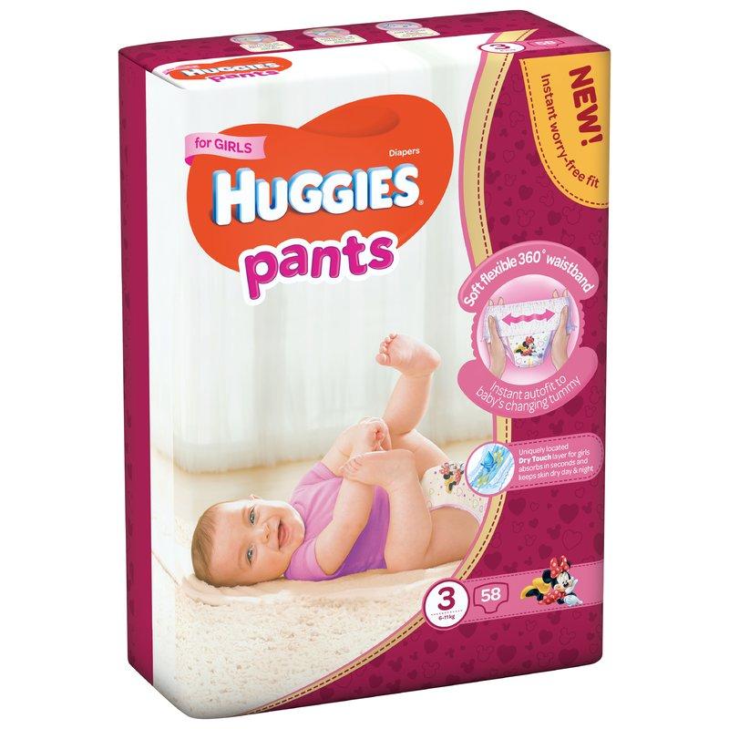 Scutece-chilotel Huggies Mega Pants (nr 3) Girl 58 buc 6-11 kg din categoria Scutece bebelusi de la Huggies