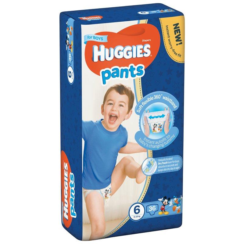 Scutece-chilotel Huggies Mega Pants (nr 6) Boy 36 buc 15-25 kg din categoria Scutece bebelusi de la Huggies